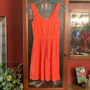 Mossimo coral lace dress